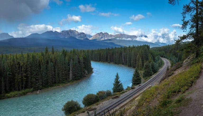 Bow River Trail viewpoint