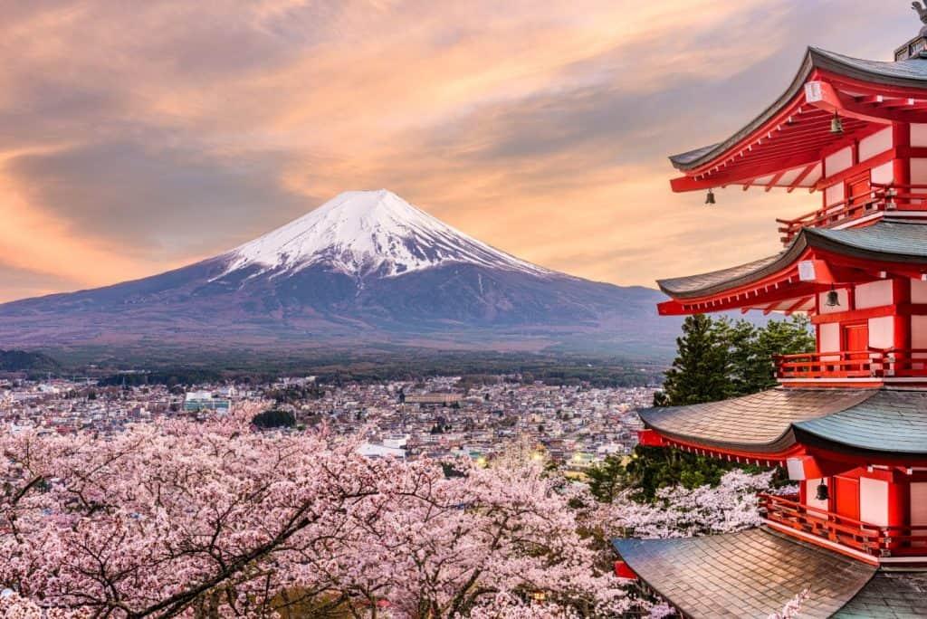 Fujiyoshida Japan at Chureito Pagoda