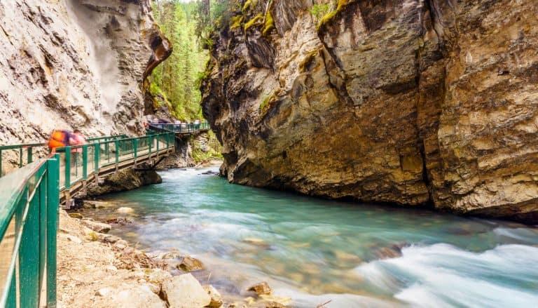 Johnston Canyon trail in Banff