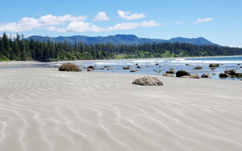 Low tide on Long Beach Vancouver Island bc