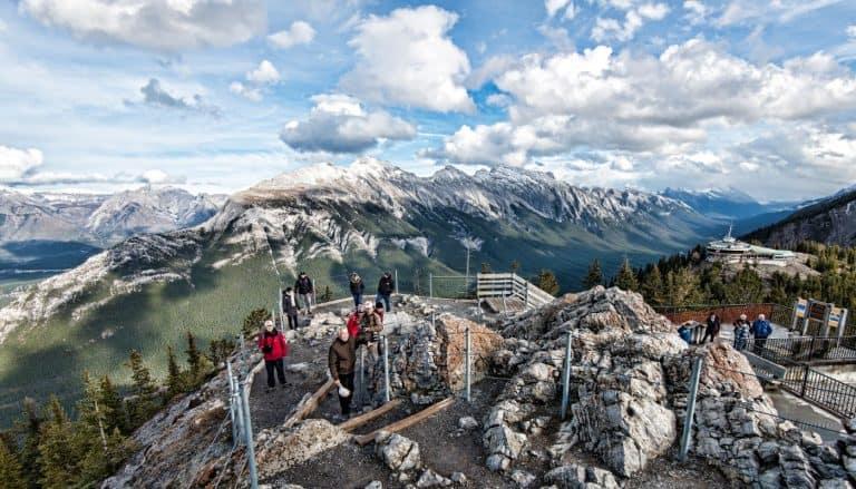 Sulfer Mountain Banff Gondola and observation center
