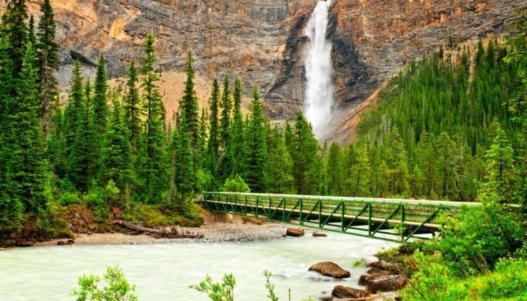 Takakkaw Falls waterfall in Yoho National Park
