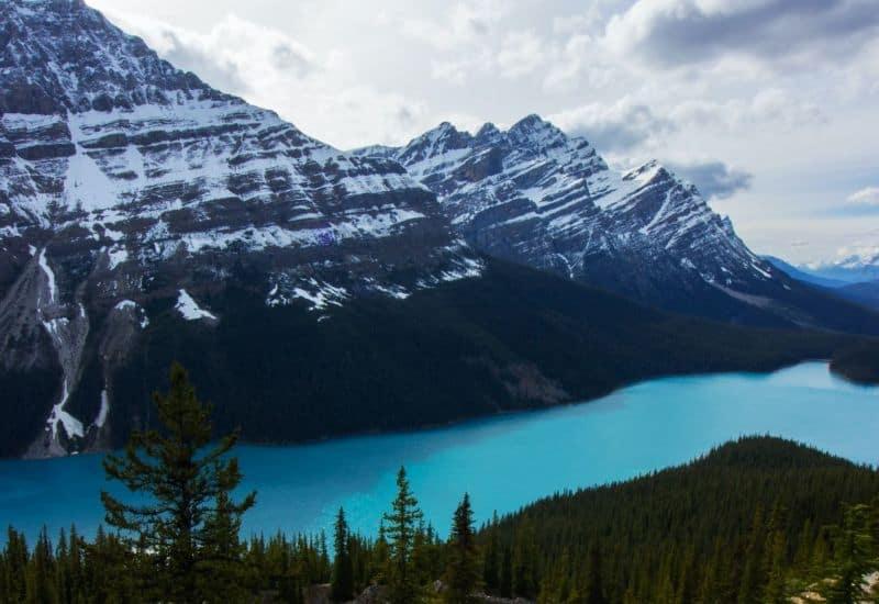 peyto lake rocky mountains