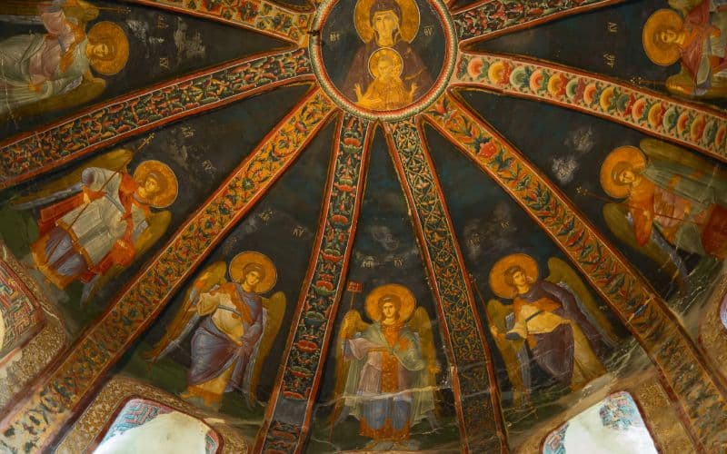 Interior of Church of Holy Saviour in Chora