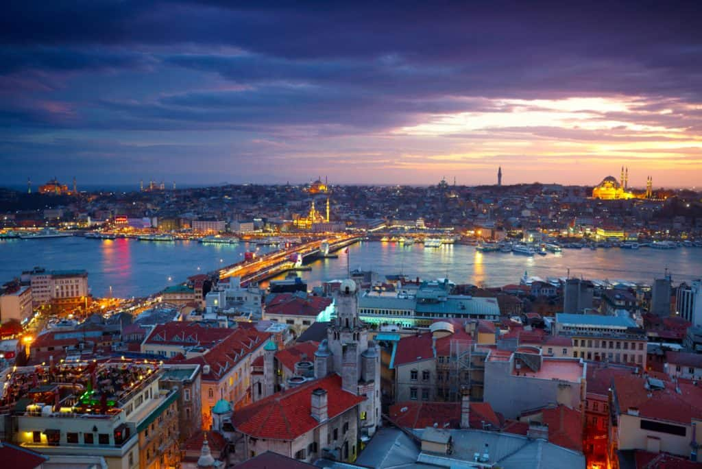 Istanbul 4 to 7 day itinerary Sunset View