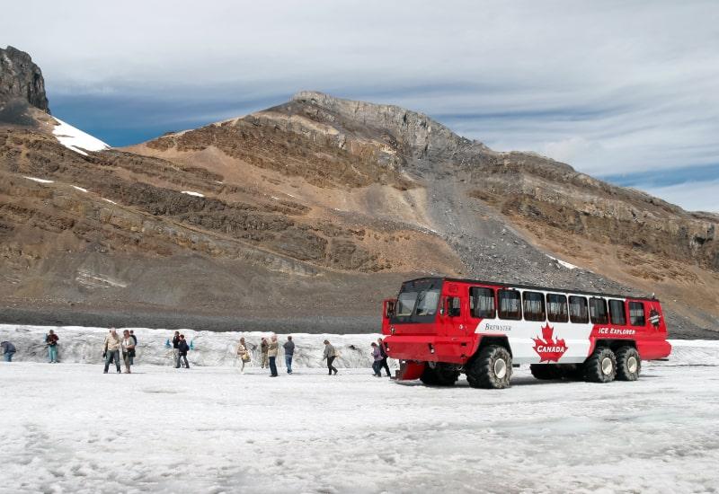 athabasca glacier ice explorer banff