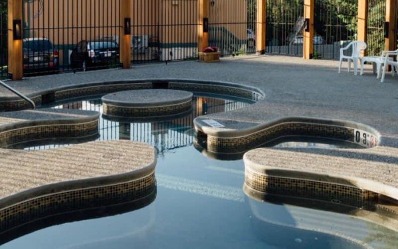 Douglas Fir Resort Chalets hot tub sm