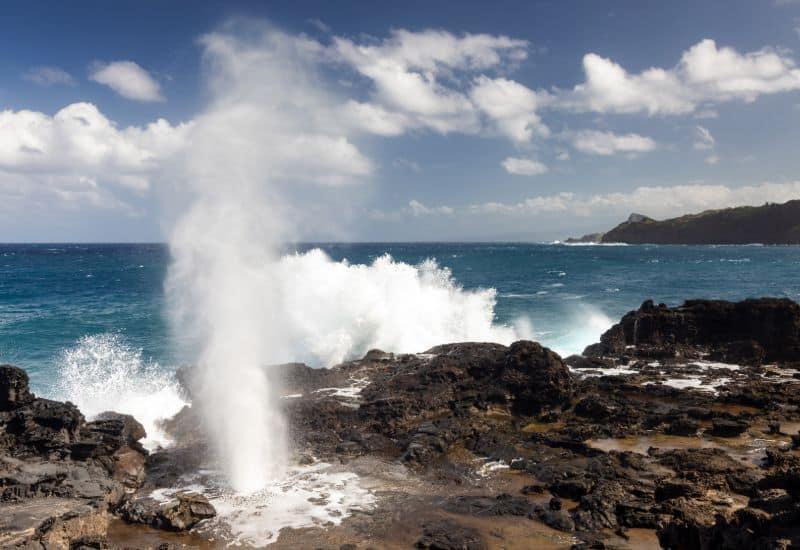 Nakalele Blowhole on the northern coast of Maui