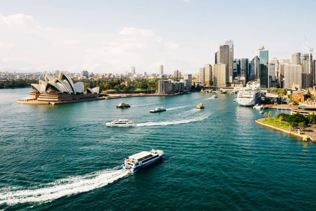 sydney opera house water view sp