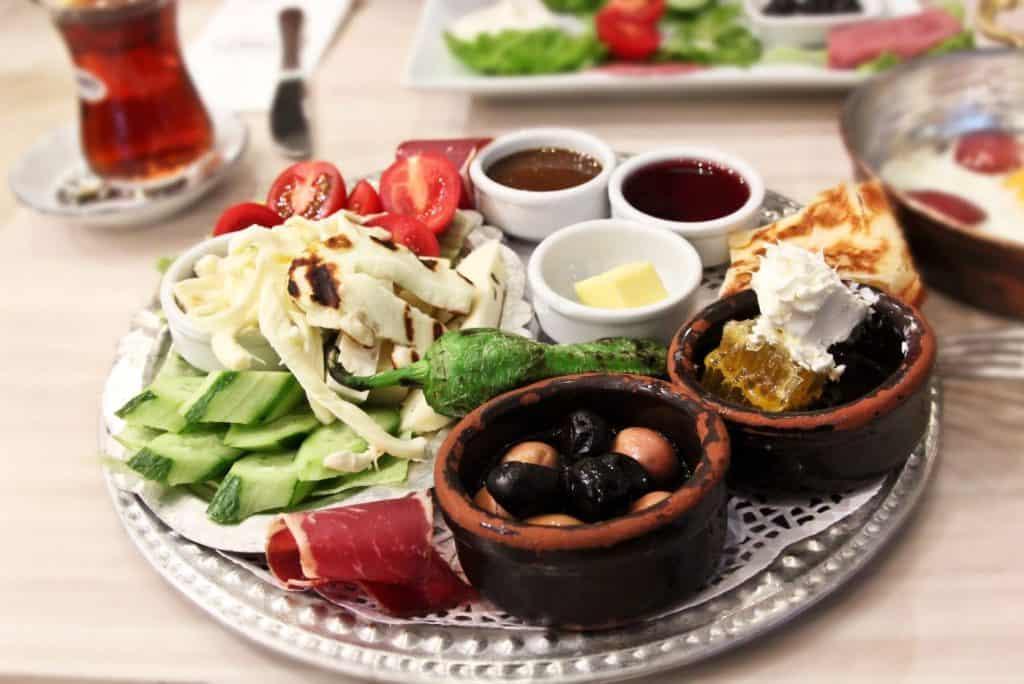 traditional turkish breakfast platter