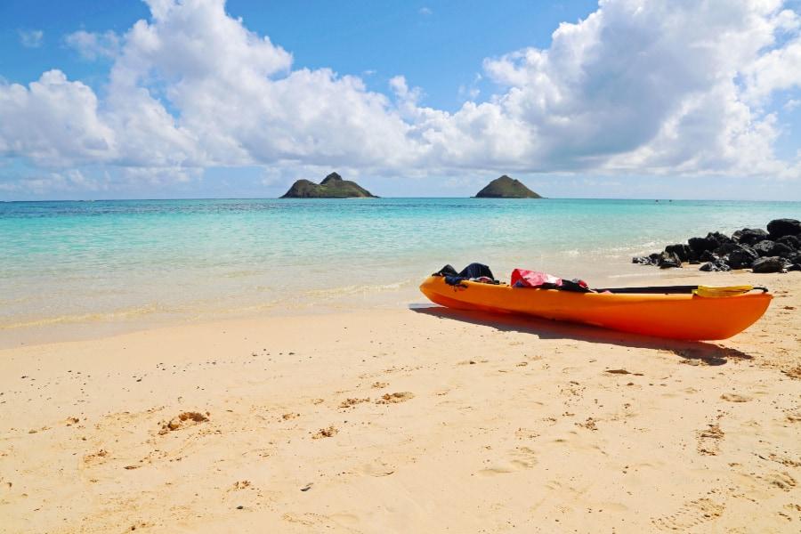 Kayak on Lanikai beach oahu